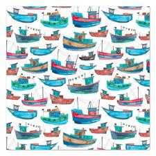 Fishing Boats Printed Wall Art