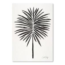 Black Fan Palm Printed Wall Art