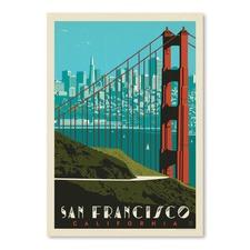 Golden Gate Bridge Skyline Printed Wall Art