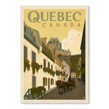 Quebec Street Scene Printed Wall Art