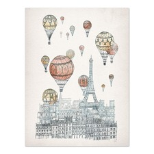 Voyages Over Paris Printed Wall Art