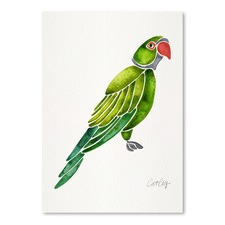 Perched Parrot Printed Wall Art