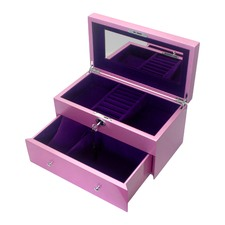 Large Metallic Pink Kandi Luxury Jewellery Box