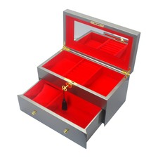 Large Steel Kandi Luxury Jewellery Box