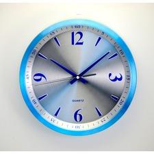 Blue & Silver Contemporary Wall Clock