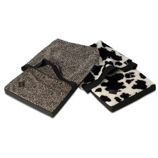 Snuggler Pet Bed with Animal Print Cover