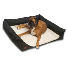 Out 'n' About Travel Dog Bed in Mock Lambswool