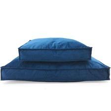 Empire Blue Shapes Oblong Pet Bed