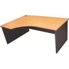 180cm Curved Left Home Desk