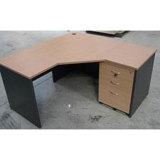 3 Piece Workstation in Beech / Iron Grey