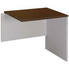 Universal Desk Return in Wenge / Silver