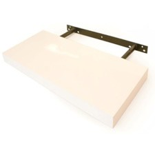 20cm Floating Shelf in White High Gloss
