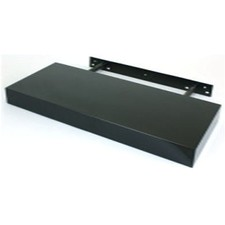 25cm Floating Shelf in Black High Gloss