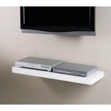 45cm Media Shelf in High Gloss White