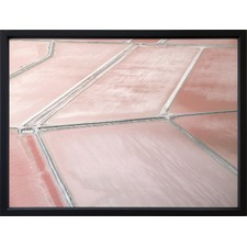 Blush Salt Lake Framed Print