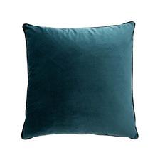 Peacock Teal Square Velvet Cushion