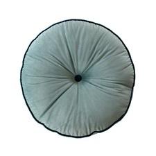 Sage Green Round Velvet Cushion