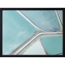 Blue Hidden Fields Framed Print
