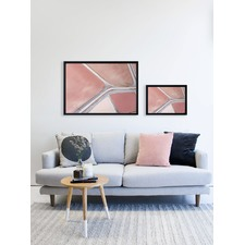 Blush Hidden Fields Framed Print