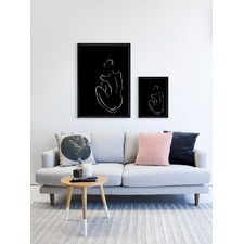 Black Figure I Framed Print