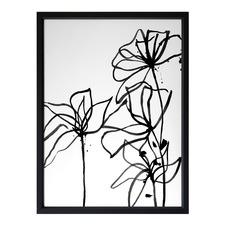 Ink Flowers I Framed Print