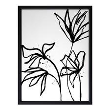 Ink Flowers II Framed Print