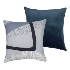 Misty Harbour Square Cushion