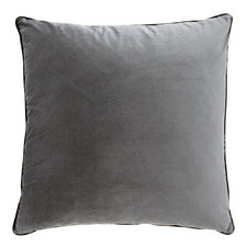 Steel Grey Oversized Velvet Cushion