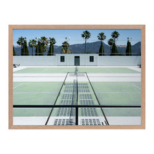 Down To The Tennis Court Framed Printed Wall Art