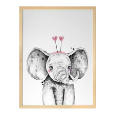 Emmeline Elephant Framed Printed Wall Art
