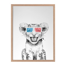 Ludo Lion Framed Printed Wall Art