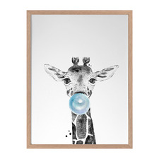 George Giraffe Framed Printed Wall Art