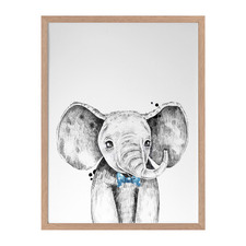 Errol Elephant Framed Printed Wall Art