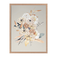 Paper Posy I Framed Printed Wall Art