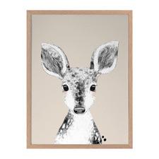 Doe A Deer Framed Printed Wall Art