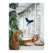 Big Cat Club Canvas Wall Art