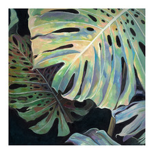 Midnight Monstera II Canvas Wall Art