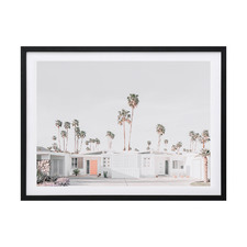 Palm Springs House Framed Printed Wall Art
