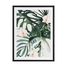 Tropical Leaves Green II Framed Printed Wall Art