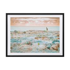 Kangaroo Beach Framed Printed Wall Art