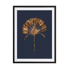 Golden Palm II Framed Printed Wall Art