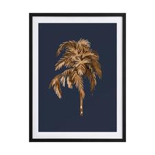 Golden Palm III Framed Printed Wall Art