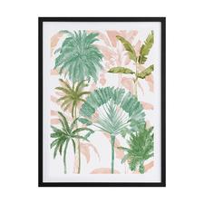 Exotic Palms II Framed Printed Wall Art