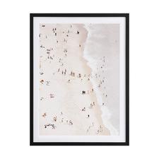 Bleached Beach Framed Printed Wall Art