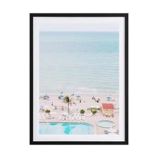 Miami Poolside Framed Printed Wall Art