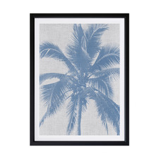 Denim Palms II Framed Printed Wall Art