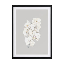 Beige Lilies Framed Printed Wall Art