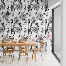 Black Kookaburra Peel & Stick Wallpaper