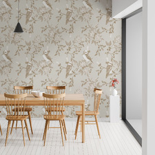 Natural Kookaburra Peel & Stick Wallpaper