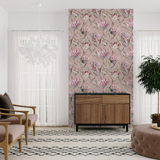 Blush Perfect Proteas Peel & Stick Wallpaper
